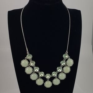 Ann Taylor Statement Necklace Pale Green Hues